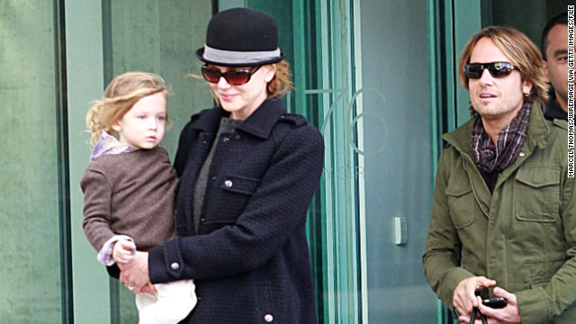 Nicole Kidman, 41 at the time, and Keith Urban welcomed daughter Sunday Rose into the world in 2008.