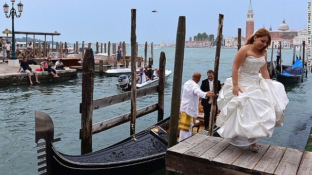 The city is a destination for brides as well as tourists.