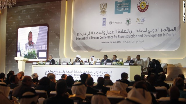 A general view of the International Donors Conference for Reconstruction and Development in Darfur, in Doha on Sunday.