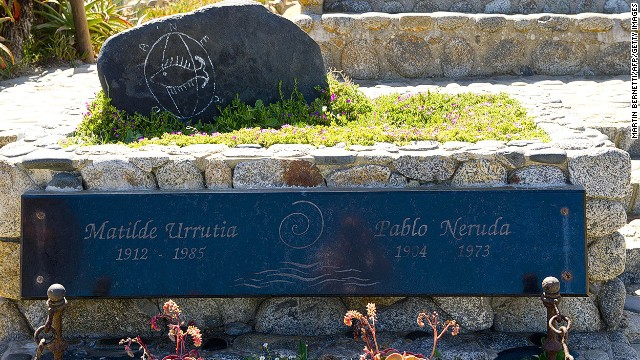 Chilean poet Pablo Neruda's remains were exhumed in April.
