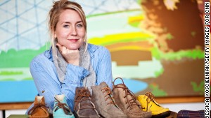 Katherine McMillan was tired of women\'s shoes with bows and flowers, so she designed her own.