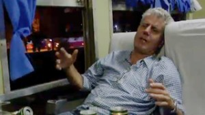 Anthony Bourdain meets crazy train