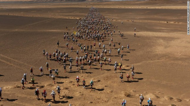 Known as the world's toughest footrace, runners had to cover the equivalent of five and a half marathons over six stages -- including a non-stop leg of some 75 kilometers.