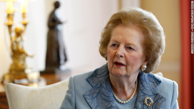 &lt;a href='http://www.cnn.com/2013/04/08/world/europe/uk-margaret-thatcher-dead/index.html?hpt=hp_c2'&gt;Former British Prime Minister Margaret Thatcher&lt;/a&gt;, a towering figure in postwar British and world politics and the only woman to become British prime minister, died at the age of 87 on Monday, April 8.