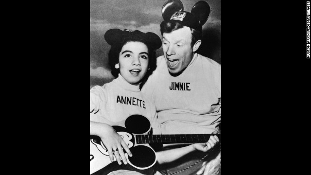 "Annette Funicello, one of the best-known members of the original 1950s ""Mickey Mouse Club"" and a star of 1960s ""beach party"" movies, died at age 70 on April 8. Pictured, Funicello performs with Jimmie Dodd on ""The Mickey Mouse Club"" in1957."