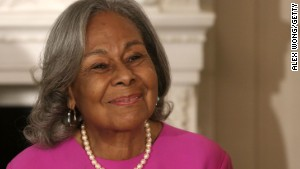 Rachel Robinson, 90, Jackie Robinson\'s widow, attends an event at the White House to celebrate the movie \'42,\' a biopic about her late husband.