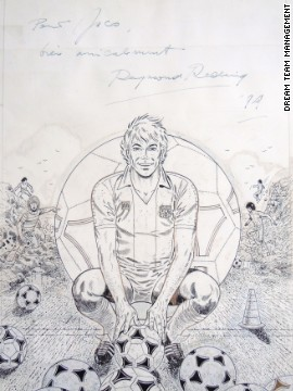 A initial sketch signed by Castel illustrator Raymond Reding appeared on the 10th issue's cover. According to the<a href='http://www.lambiek.net/artists/r/reding_raymond.htm' target='_blank'> Lambiek Comiclopedia,</a> Reding joined the editorial team of Tintin in 1950.