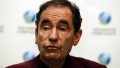 Albie Sachs the ICC Appeals Commissioner announcing his decision during a press conference at the Holiday Inn prior to the 2003 Cricket World Cup, in Cape Town, South Africa on February 7, 2003.