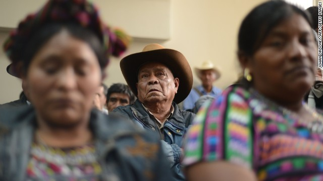 Relatives of victims attend court proceedings for former dictator Efrain Rios Montt in 2013. Painful public testimony could help heal the betrayal felt by many of the nation's Mayan victims.