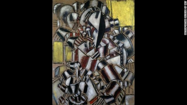 """""""The Smoker"""" by Fernand Léger, 1914."""