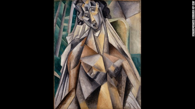 """Nude Woman in an Armchair"" by Pablo Picasso, summer 1909."