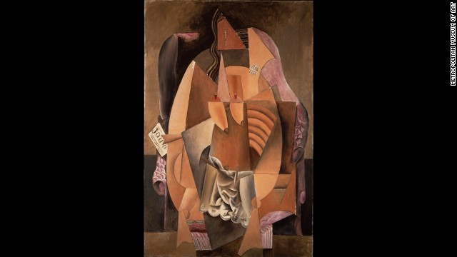 """Woman in an Armchair (Eva)"" by Pablo Picasso, 1913."