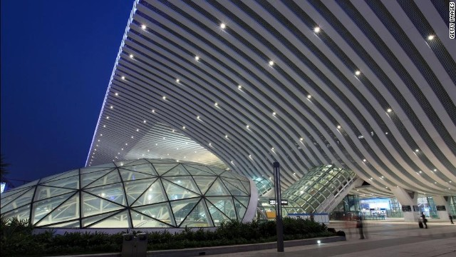 The Shenzhen North Railway Station, near Hong Kong, was completed in 2011. The Beijing-Guangzhou line will eventually be linked up with Shenzhen and Hong Kong.