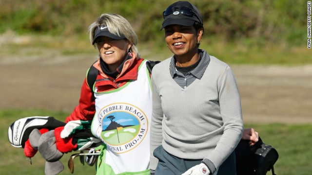 Former U.S. Secretary of State Condoleezza Rice is one of just two women to have been invited to become members of Augusta in the club's 80 year history. Rice and South Carolina businesswoman Darla Moore will both wear their Green Jackets at this year's tournament.