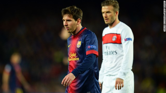 Messi's 62nd minute introduction ultimately made the difference, while Beckham was left to reflect on what might have been following his team's exit from the competition.