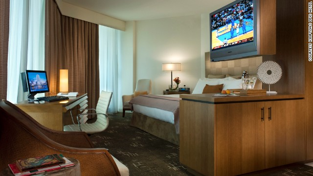"Kimpton Hotels came in first place in the ""upper upscale"" category. This is Kimpton's EPIC Hotel in Miami."