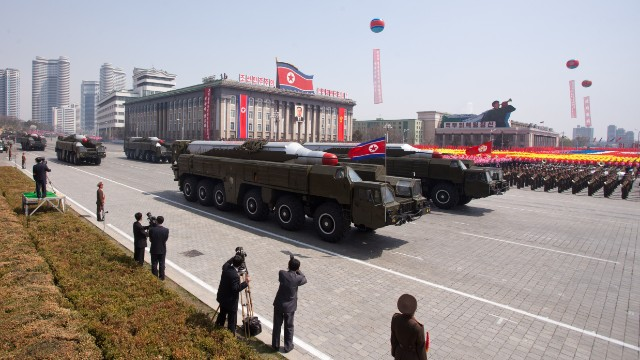 North Korea raises at least one missile into firing position