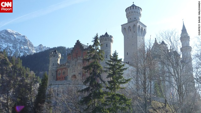 <a href='http://ireport.cnn.com/docs/DOC-922383'>Neuschwanstein Castle</a> sits on a hill just outside of Fussen, Germany. Though it looks ancient, the castle was built in the second half of the 19th century as a tribute to composer Richard Wagner.