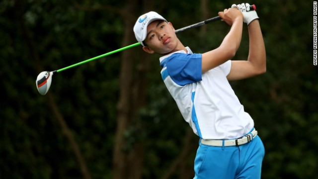 China's Guan Tianlang is the youngest competitor -- at age 14 years and 5 months -- in the 80 years of the Masters, beating the previous record held by then 16-year-old Matteo Manassero.