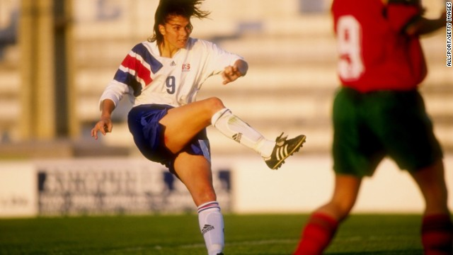 Long before she was one of the most recognizable figures in women's soccer, Mia Hamm was a youth soccer player in Texas and Virginia. After catching coach Anson Dorrance's eye, she was picked for the national team and in 1987 became the youngest American woman, at 15, to take the field for a World Cup. Before retiring in 2004, she racked up four NCAA championships, two World Cup championships and two Olympic gold medals.