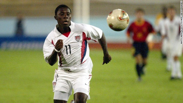 In 2004, at age 14, Freddy Adu became the youngest athlete to appear in a Major League Soccer game. Two weeks after his first appearance, Adu became the youngest athlete to score a goal in MLS.