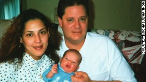 Adam Shannon was born in 1997. He was 4 years old when his dad last saw him. His mother, Nermeen, is at left.