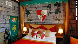 A Kingdom-themed room at the new Legoland hotel.