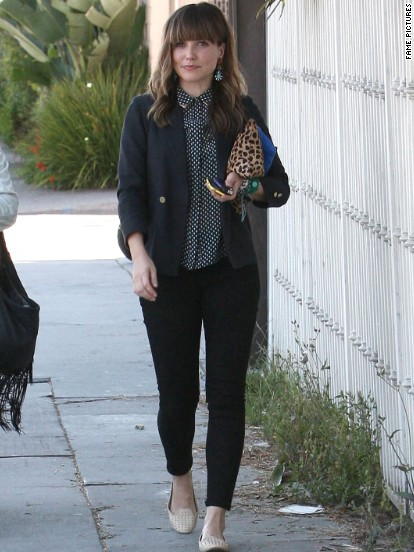 Sophia Bush spends time with a friend in Beverly Hills.