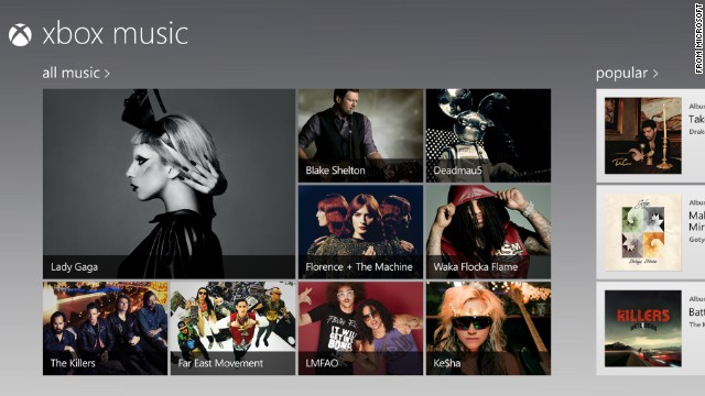 Microsoft launched Xbox Music in the fall of 2012. Like Spotify, it lets users instantly stream music -- to the Xbox home-entertainment system or to Windows-powered PCs, tablets and phones.