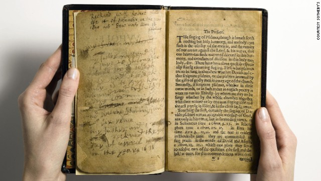 For the first time since 1947, and only the second time since the 19th century, a copy of the first book printed in America will be sold at auction. The Whole Book of Psalmes -- universally known as The Bay Psalm Book -- was produced in the virtual wilderness of Massachusetts Bay Colony by the Congregationalist Puritans.