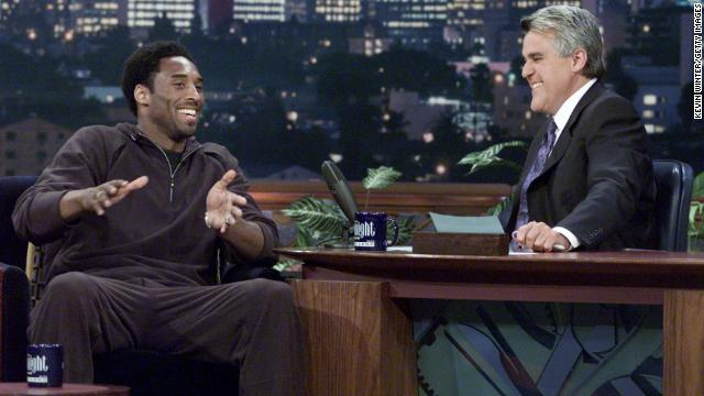 "Bryant appears on the ""Tonight Show with Jay Leno"" at NBC Studios on June 28, 2001, in Burbank, California."