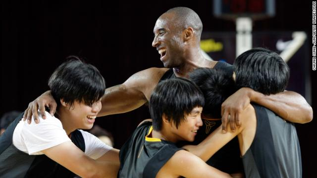 Bryant joins a teaching session for fans during a promotional tour of South Korea at Korea University on July 14, 2011, in Seoul, South Korea.