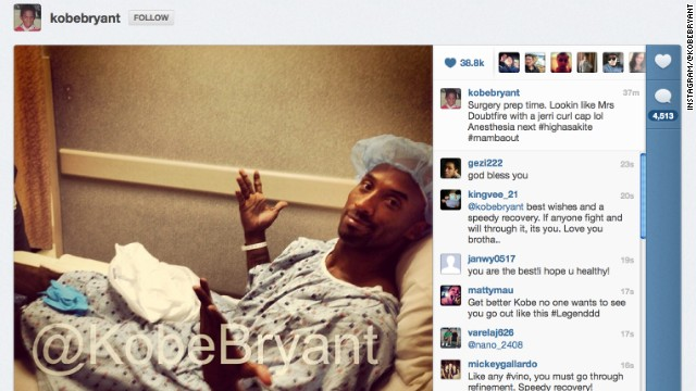 Bryant prepares for surgery.