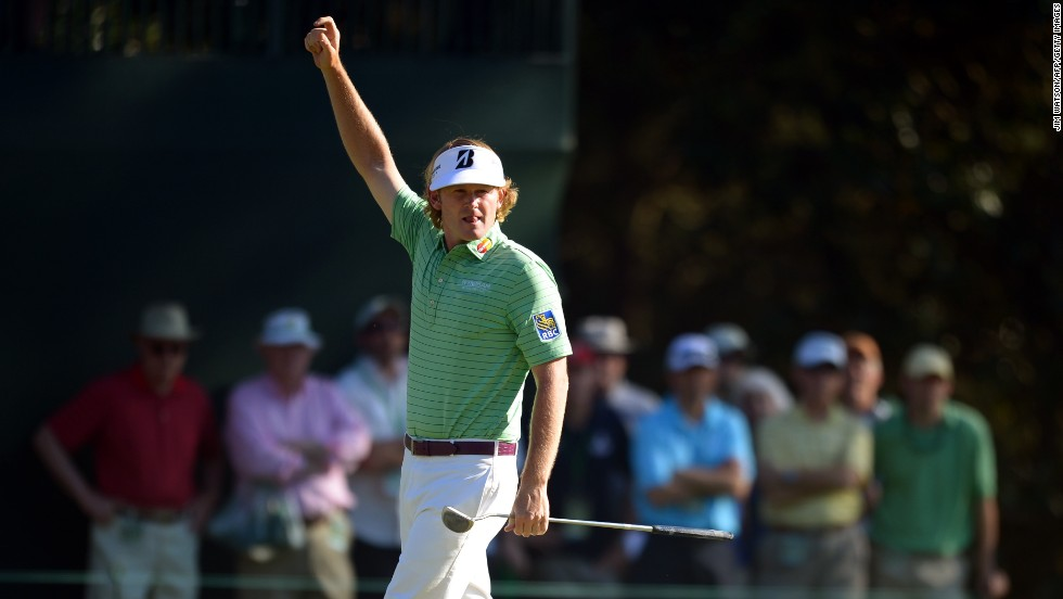 Brandt Snedeker of the United States waves during the third round of the 77th Masters golf tournament at Augusta National Golf Club on Saturday, April 13, in Augusta, Georgia. Click through to see all the shots from the third day and <a href='http://www.cnn.com/2013/04/12/golf/gallery/masters-round-two/index.html' target='_blank'>look back at the second round</a>.
