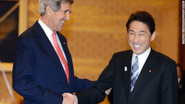 Kerry visita Japón en medio de la creciente tensión con Corea del Norte