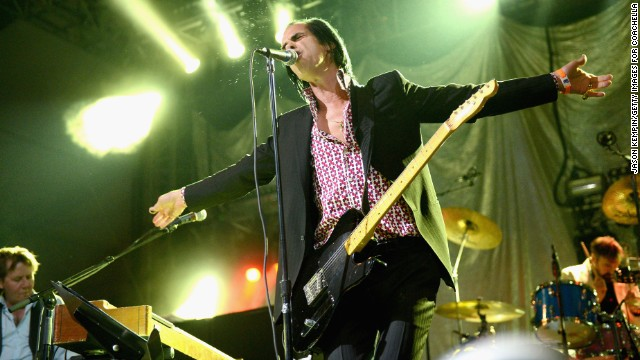 Nick Cave performs on Day One of the festival.