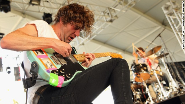 Brian King of Japandroids performs on April 12.