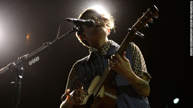 Tegan Quin of Tegan and Sara performs on Day One on April 12.