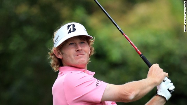 Brandt Snedeker of the U.S. tees off on the second hole.