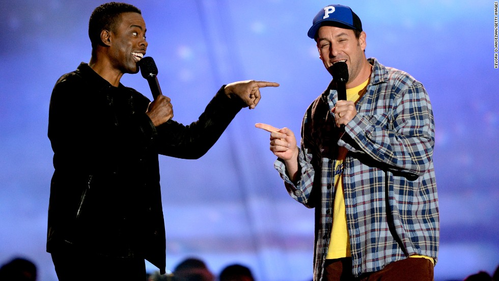 "The 2013 MTV Movie Awards came early this year, but Sunday night's show wasn't short on memorable moments. First up on the list? <a href='http://www.mtv.com/videos/misc/898698/wtf-experts-chris-rock-and-adam-sandler-present-best-wtf-moment.jhtml' target='_blank'>Chris Rock and Adam Sandler present the ""Best WTF Moment"" award</a>. Half of the segment was bleeped, with Rock keeping censors on their toes by appearing to say something off the cuff at the end."