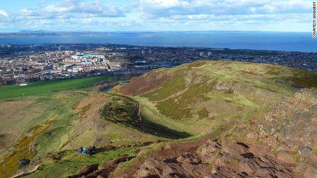 Arthur's Seat in Edinburgh, Scotland, is an urban volcano where admission is free. Just lace up your hiking shoes.