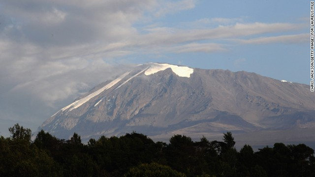 The highest point in Africa at 19,340 feet, Tanzania's Mount Kilimanjaro is made up of three main extinct volcanoes.