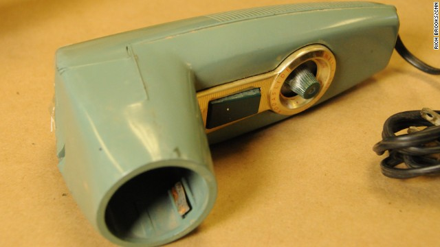 Next to Garza's body, police found this heavy Kodak metallic slide photo viewer, said former McAllen police officer Sonny Miller, who supervised crime scene investigations in 1960. Miller said investigators eventually learned the viewer belonged to the Rev. John Feit, a 27-year-old priest at Garza's church, Sacred Heart Catholic Church.