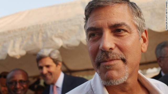 George Clooney attends the independence referendum vote in Juba, South Sudan, in January 2011. Clooney is co-founder of the Satellite Sentinel Project, which uses satellite imagery to watch for aerial attacks and troop movements in Sudan and South Sudan.