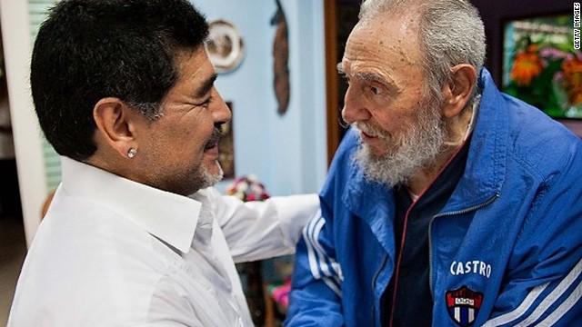 """Maradona y Fidel, el encuentro de dos """"viejos amigos"""""""