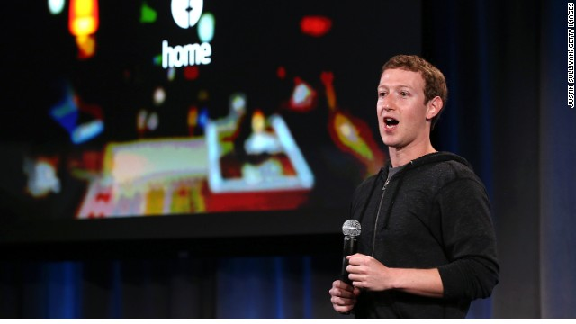 Facebook CEO Mark Zuckerberg in April announces a new product for Android called Facebook Home.