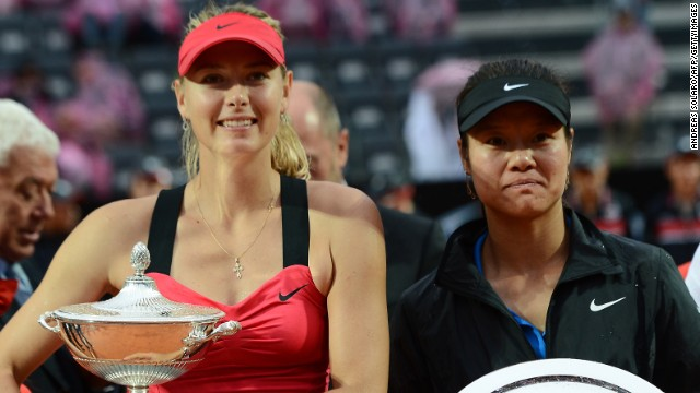 Sharapova defeated Li Na in last year's final of the Italian Open, the perfect buildup to the French Open. Sharapova and Li are the two highest-paid female athletes in the world and share the same agent.