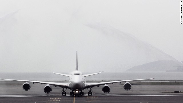 Water cannons greet the arrival of the first 747-8 Intercontinental to Hong Kong in April. The latest version of the fabled jumbo jet, the 747-8 Intercontinental rolled out last year and is currently being built at a rate of two per month. Each 747-8 is made up of about 6 million parts and has a list price of $351.4 million.