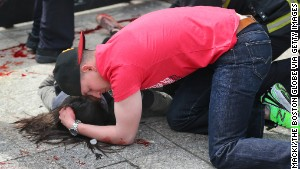 This Boston Globe photo from the attack\'s aftermath went viral, but with a fake story attached to it.