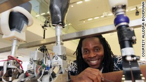"David Sengeh developing ""perfect fit"" prostheses"
